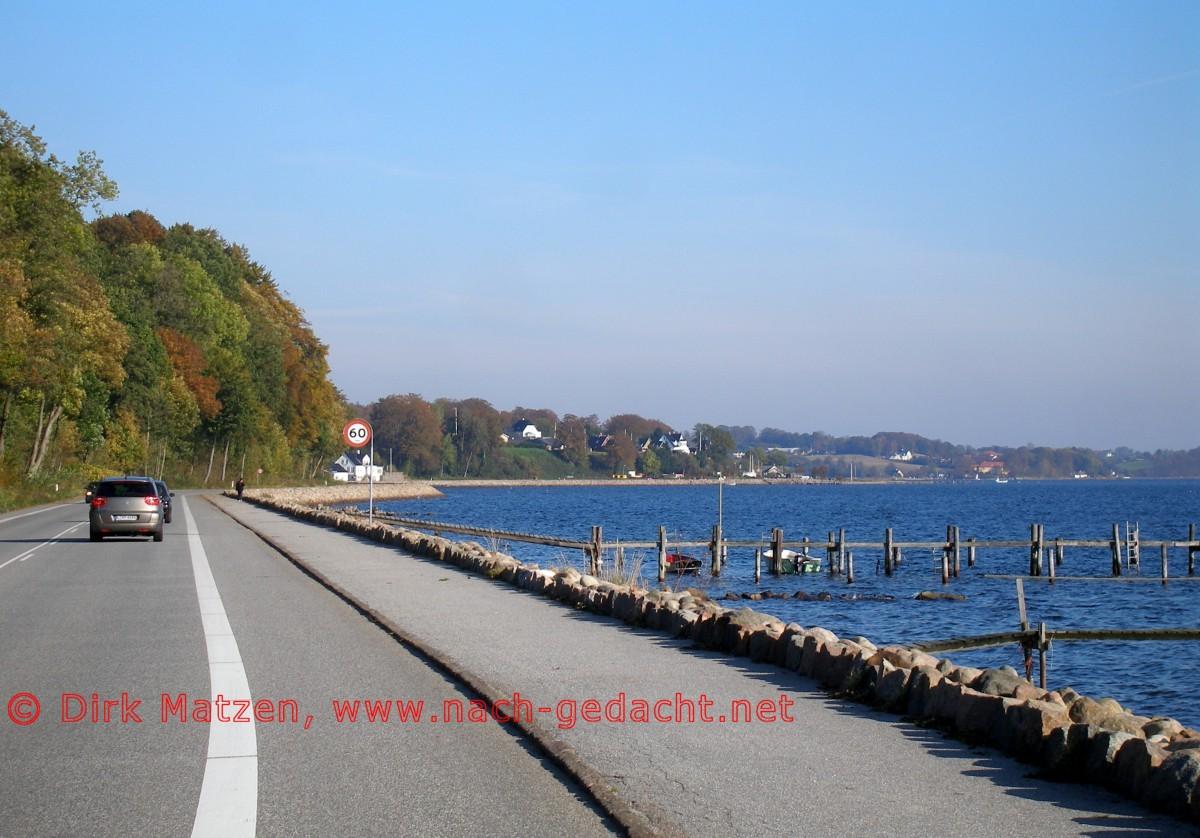 20 Bilder der dänisch deutschen Grenzroute   Strasse an der ...